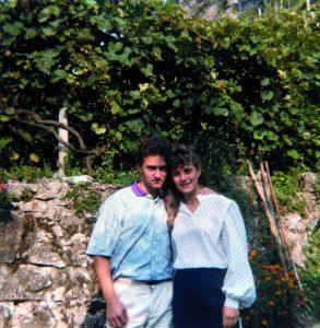 Cristina e Carlo, fidanzati nel 1986