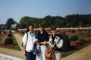 Cristina con Donatella e Isabella all'estero per studio