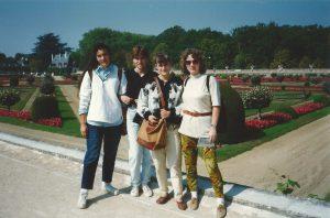 Cristina con le amiche