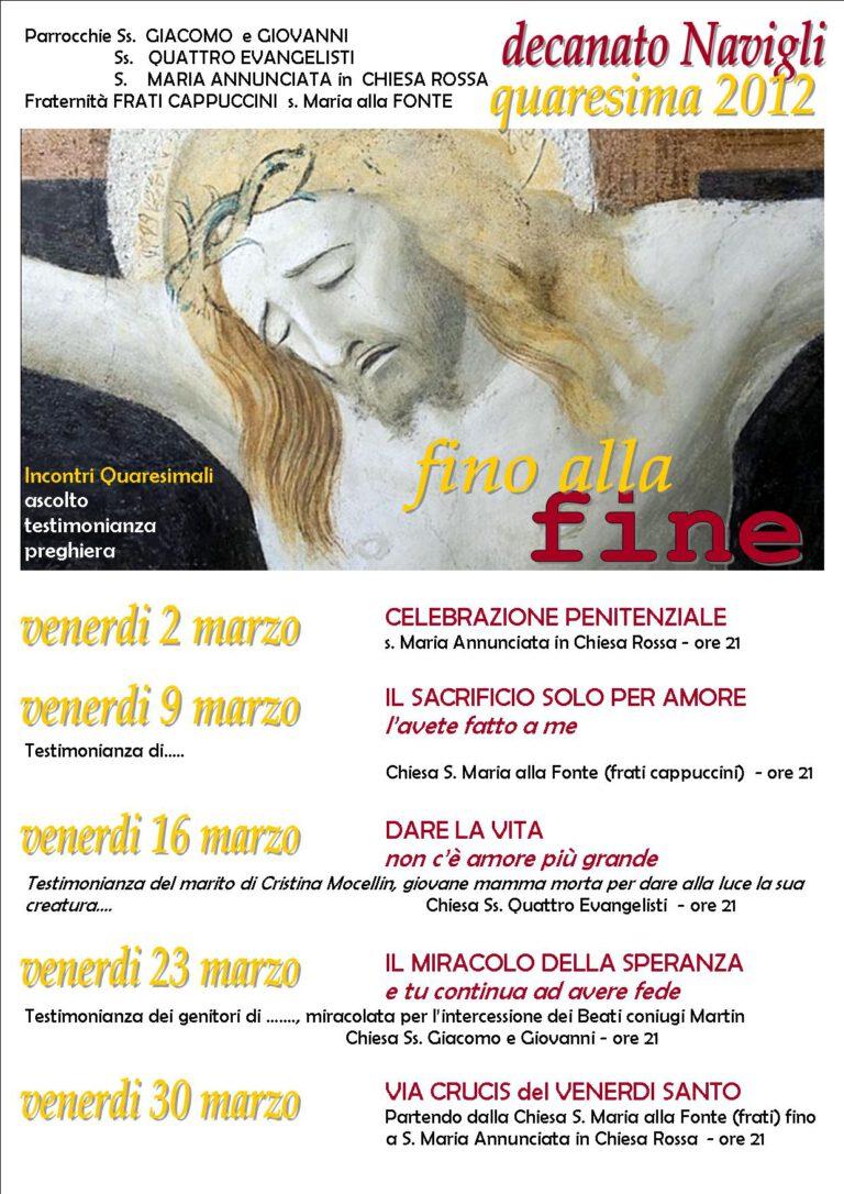 Incontro quaresimale decanato Navigli 2012