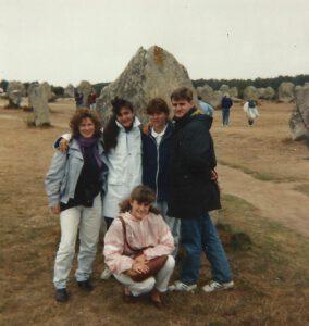 Cristina, Isa e Dona con amici a Carnac