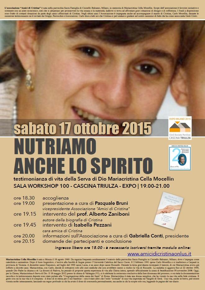 Nutriamo anche lo spirito - workshop EXPO 2015