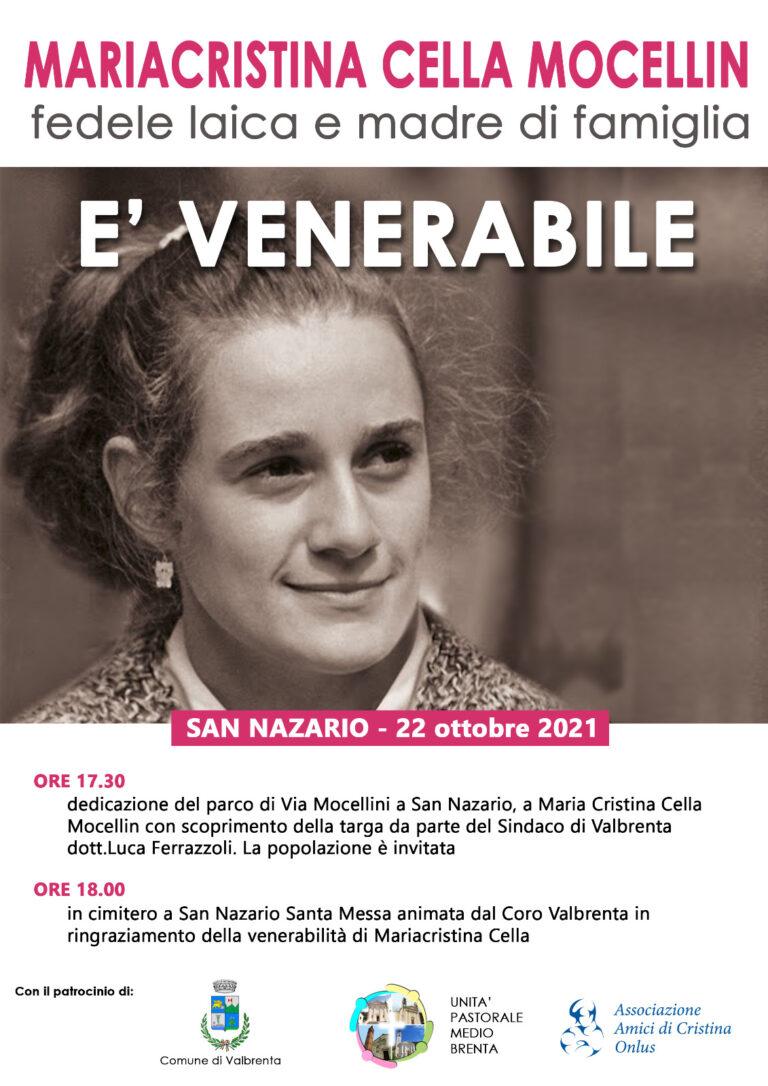 S. Messa 26°anniversario e dedicazione parco San Nazario (VI)